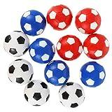 CLISPEED 12 Piezas Reemplazos de Futbolines de Fútbol de Mesa Futbolines de Plástico Reemplazo de Bola de Futbolín