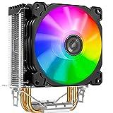 Jonsbo - CR-1200 ARGB 92mm CPU Cooler RGB Ventilador de PC para CPU Intel y AMD Enfriamiento Procesadores eficientes, alto potencial de enfriamiento y diseño elegante