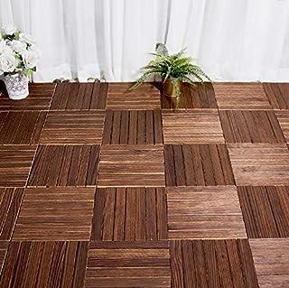 1pc 300x300x22mm piso de madera anticorrosión exterior, baño interior/exterior, ducha y alfombra