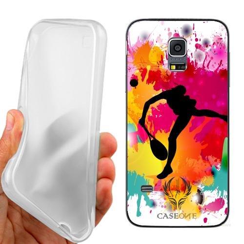 Custodia Cover Case Tennis Femminile per Samsung Galaxy S5 Mini G800
