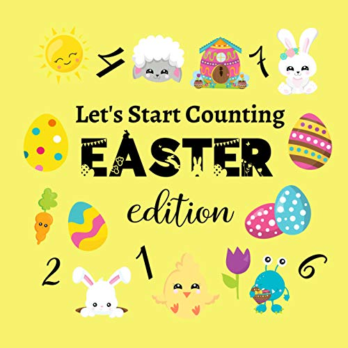 Let's Start Counting Easter Edition: Cute Activity Quiz Book For Kids & Toddlers 2-5 Year Old's (English Edition)
