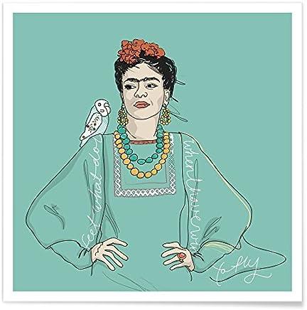 61cm x 91,5cm Viva La Vida Close Up Poster Frida Kahlo + Un Poster Bora Bora en Cadeau!