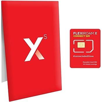 世界150ヵ国対応 プリペイド SIMカード 繰り返し使える 100MBつき 早割で 1GB 460円〜 4G/3G アメリカ 台湾 香港 中国 フランス イタリア ヨーロッパ ハワイ エジプト 日本でも使える FLEXIROAM XS 1個