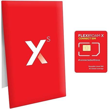 世界130ヵ国対応 プリペイド SIMカード 繰り返し使える 100MBつき 1GB 550円〜 4G/3G アメリカ 台湾 香港 中国 フランス イタリア ヨーロッパ ハワイ エジプト 日本でも使える FLEXIROAM XS 1個