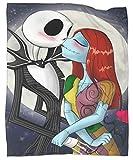 MRFSY Jack Skellington and Sally - Manta de microfibra suave y cálida, 152 x 203 cm