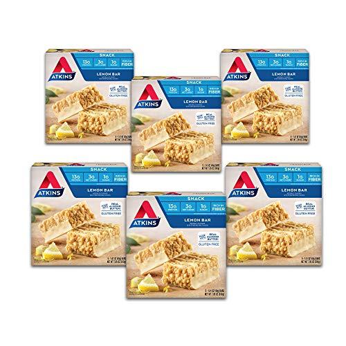 Atkins Gluten Free Snack Bar, Lemon Bar, Keto Friendly (30 bars)
