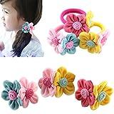 HABI mehrfarbig vielfältig Designs Haarspange Haargummi Blume Fliege Schleife Pferdeschwanz für Mädchen