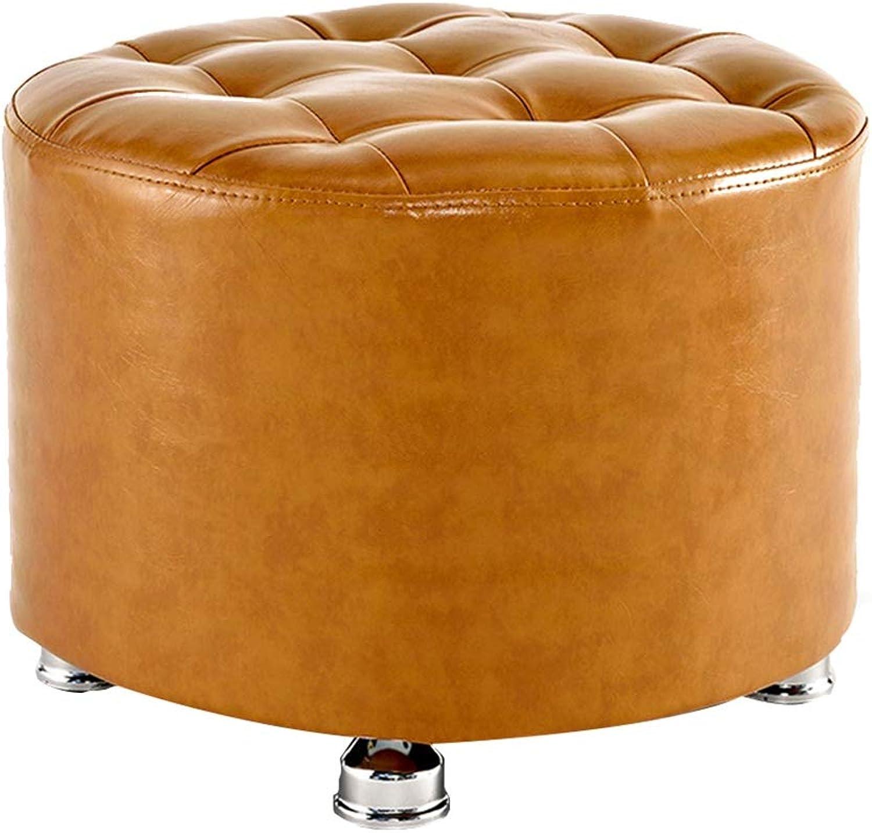 JIANFEI Footstool Makeup Stool PU Cushion Metal Stool Legs No Peeling, 5 colors (color   Metal, Size   40x40x30cm)