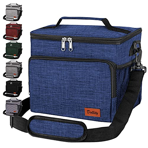 Lunch Box for Women Men - Insulated Lunch Bag for Kids Adult - Reusable Leakproof Lunch Box Tote Cooler Bags with Adjustable Shoulder Strap for Work School Office Picnic Hiking
