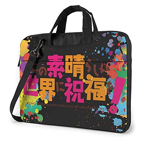 XCNGG Konosuba Laptop Hombro Messenger Bag Maletín de transporte Tablet Computer Mochila Bolso