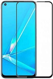 شاشة حماية خماسية الأبعاد كاملة متوافقة لموبايل اوبو A52/A72/A92 بإطار أسود اللون