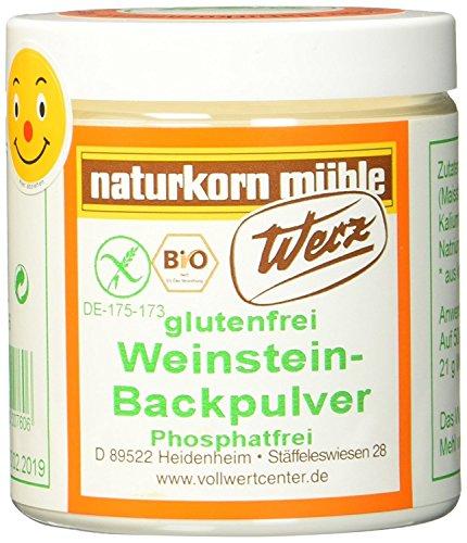 Werz Weinstein Backpulver glutenfrei (1 x 150 g Dose) - Bio