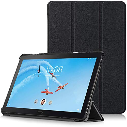TTVie Case for Lenovo Tab P10, Ultra Slim Lightweight Smart Shell Stand Cover with Auto Wake/Sleep Function for Lenovo Tab P10 10.1' Full HD IPS Display Tablet 2018 Release, Black