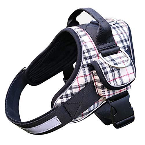 Kingyoe Hundegeschirre für große Hunde geschirr Hundeweste Brustgeschirr mittelgroße Hunde Sicherheitsgeschirr Ausbruchsicheres Halsbänder dog harness Reflektierend K9Mit Aufbewahrungstasche,Beige