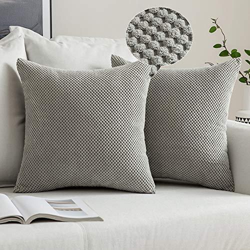 MIULEE 2er Set Granulat Kissenbezug Ananas Weiches Massiv Dekorativen Quadratisch Überwurf Kissenbezüge Kissen für Sofa Schlafzimmer 18