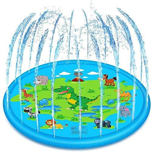 Achort Sprinkler für Kinder Sprinkler Wasser-Spielmatte Splash Play Matte, Sommer Garten Wasserspielzeug Splash Pad Spielmatte für Baby Kinder,68Zoll