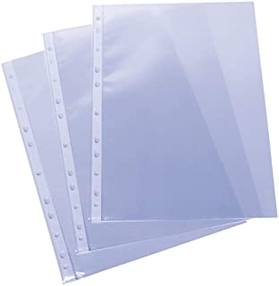 Grafoplas 5576700. Pack de 100 Fundas Multitaladro A4, Polipropileno Estándar, Color Transparente, Piel Naranja