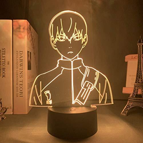 Lámpara de ilusión 3D Led Luz de Noche Anime Haikyuu Hinata Shoyo Sugaw Koushi Kageyama Tobio Figura con Sensor de Movimiento Regalo