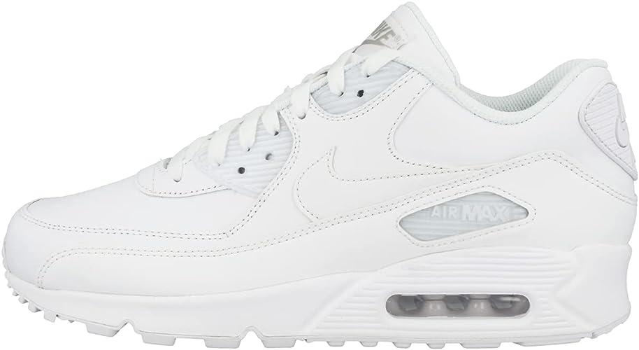 Nike Air Max 90 Leather Scarpe da ginnastica, Uomo, Bianco (True ...
