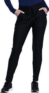 Cherokee Form Mid-Rise Tapered Leg Drawstring Pant (Black, 2X-Large)