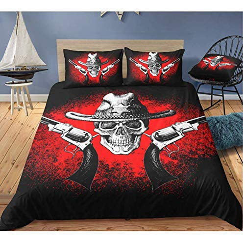 Duvet Cover 3D Skull Bedding Sets And Pillowcase New Duvet Cover Queen Size 150 * 200Cm