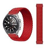 Apbands Correa Solo Loop Trenzada 22 mm Compatible para Samsung Galaxy Watch 3 45mm/Galaxy Watch 46mm/Gear S3 Frontier/Classic/for Huawei Watch GT/GT2 Correa Tela de Silicona de Nylon Elástico