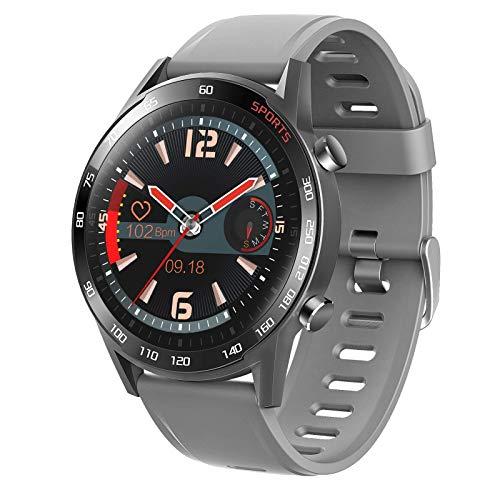ZHENAO Smartwatch Watch 1,3 Pulgadas Inforión de Pantalla de Alta Definición Pulsar el Recordatorio Pulsera Deportiva Ip67 Impermeable Moda/Gris