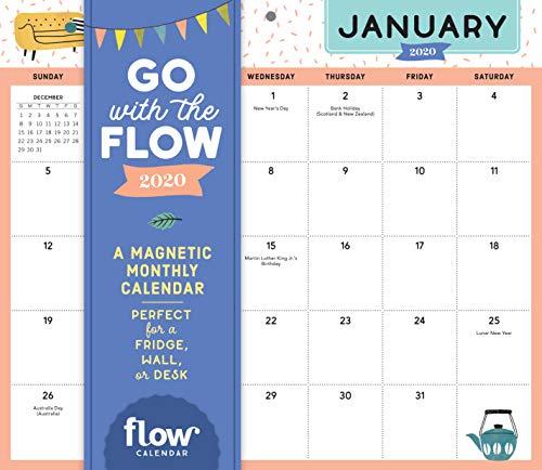 Go with the Flow Desk Calendar 2020