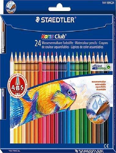 STAEDTLER Noris Club Aquarell Watercolour Pencils Set Of 3, Case Pack Of 24