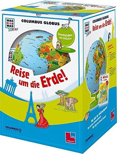 """Columbus Globus \""""Reise um die Erde!\"""": Leuchtglobus, Weltatlas und Begleitheft (WAS IST WAS Junior Edition)"""