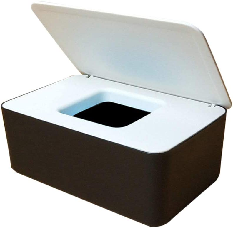 Boylee Dustproof Tissue Storage Box Case Wet Wipes Dispenser Holder with Lid for Home Office