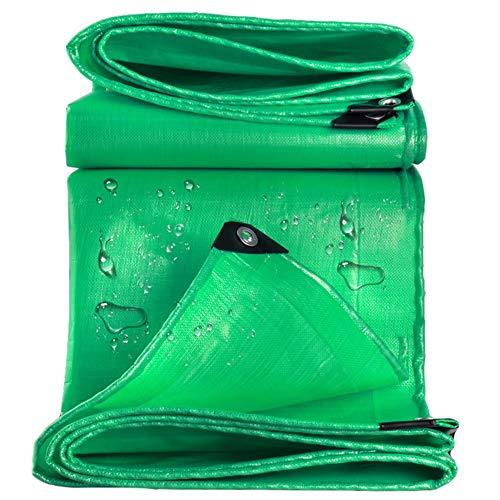 LXLA Grüne wasserdichte Plane mit Ösen, dickem Kunststoffplanen-Notregenschutz, Außenverkleidung und Campinggebrauch - 210 g/m² (Size : 3m x 5m)