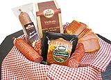Schlemmerbox Wurstgeschenk & Kaffee Set | Salami Schinken geräuchert auf Buchenholz Delikatessen Geschenkset Weihnachten