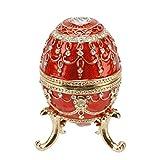 Joyero, diseño de huevo rojo grande caja Juliana 15056