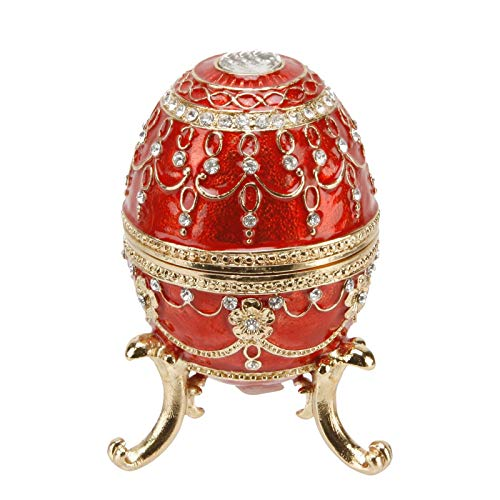 Large Red Ornate Egg Treasured Trinkets Keepsake Box Juliana 15056 by Juliana