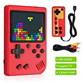 LiNKFOR Handheld Game Console, 390 Classic Games Retro Mini Game Player with 3 Inch LCD Color Screen Rechargeable Battery Portable Retro Video Game Console Support for Connecting TV and Two Players