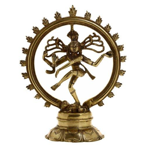 L'art indien decoration religieuse Shiva nataraja statue en laiton de danse 27,94 cm