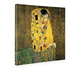 Giallobus - Cuadro - Impresion EN Lienzo - Gustav Klimt - EL Beso - 70 x 70 CM