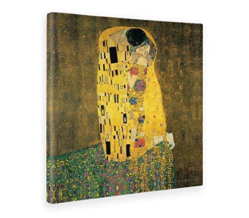 Giallobus - Cuadro - Impresion EN Lienzo - Gustav Klimt - EL Beso - 100 x 100 CM