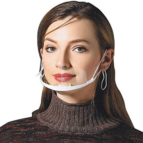 Pantalla Facial de plástico Reutilizable para higiene Sanitaria, Transparente y Permanente, antivaho, Visor Anti Agua y Comida para la Boca