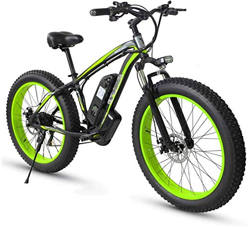 ZJZ Electric Bike Fat Tire bike 26' 4.0, Mountain Bicycle for Adult 21 Speed Beach Men Sports Mountain Bike Full Suspension Mechanical Disc Brakes