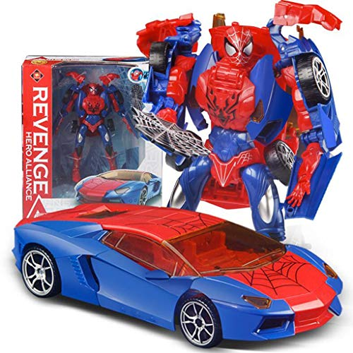 GYAN Transformed Toy Car Children's Deformation Toy Car King Kong Robot Model Character Spider-Man Deformation Car Action Figure Vehicles Best Children's Toys