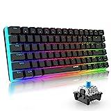 Mechanische Tastatur Gaming RGB Beleuchtung Blau Schalter 82 Taste Ajazz AK33 QWERTY Kabelgebundene Tastatur Hintergrundbeleuchtung Edition Mechanisch