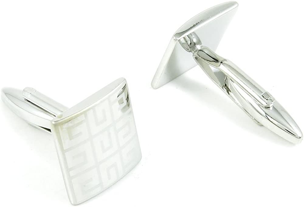 Cufflinks Cuff Links Fashion Mens Boys Jewelry Wedding Party Favors Gift YLN099 Laser Grid