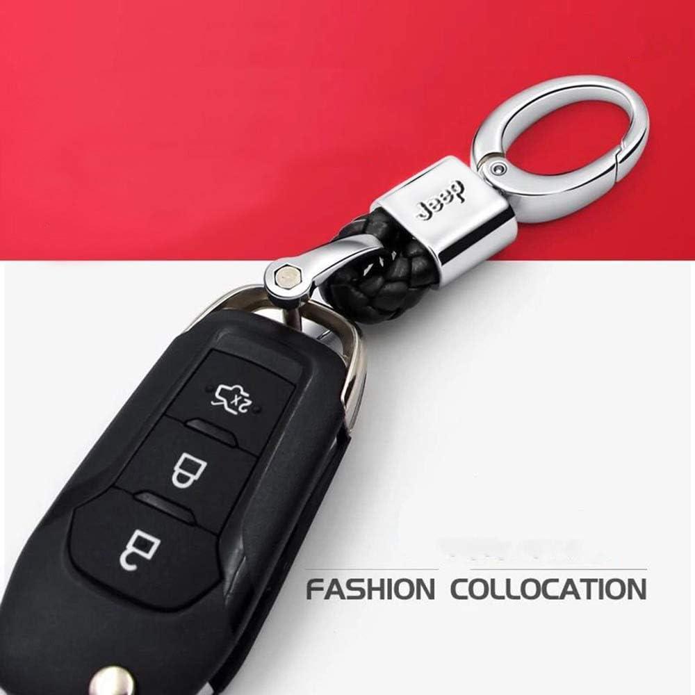 VILLSION 2 Piezas de Cuero Genuino Coche Logotipo Llavero Honda Llave Accesorios con aleaci/ón de Zinc
