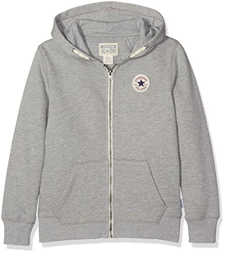 Converse Jungen 3833 Core All-Star Fleece Hoodie Jogginganzug, Grau (Dark Grey Heather 042), 12-13 Jahre