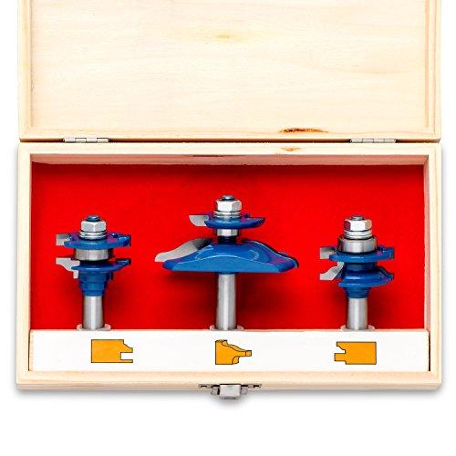 Neiko 10111A Ogee Cutter Router Bit Set, 3 Piece | 1/2
