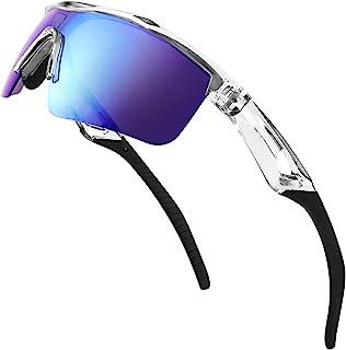 FEISEDY Barn sport polariserade solglasögon TR90 flexibel ram UV-skydd cykling cricket solglasögon för pojkar flickor ålde...