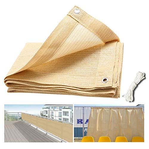PENGFEI Sonnensegel Sichtschutznetz Verschlüsselung Draussen Sonnencreme Terrasse Pavillon Anti-UV, Mehrere Größen (1x3M, Beige)