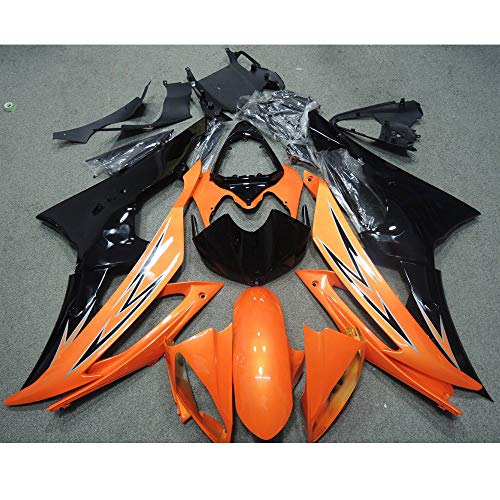 ZXMOTO Orange & Black Painted Fairing Kit for Yamaha YZF R6 2008-2016 2009 2010 2011 2012 2013 2014 2015